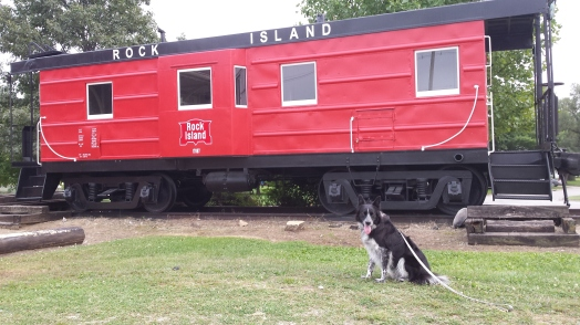 A remnant of the Rock Island Railroad empire.  Notice what a good boy I am?