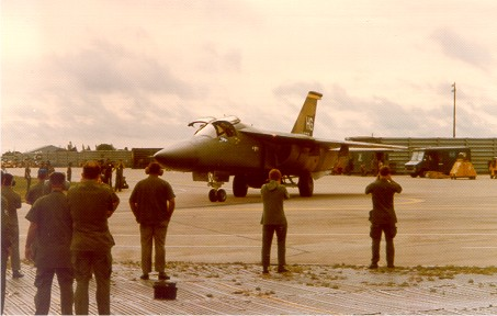 An F-111 during the Vietnam era.